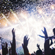 Free Download Portrait of happy crowd enjoying at music festival Nulled