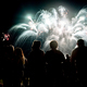 Free Download Crowd watching fireworks and celebrating new year eve Nulled