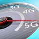 5G High speed network connection. Reaching 5g, speedometer closeup view. 3d illustration - PhotoDune Item for Sale