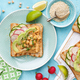 Toasts with chickpea hummus - PhotoDune Item for Sale