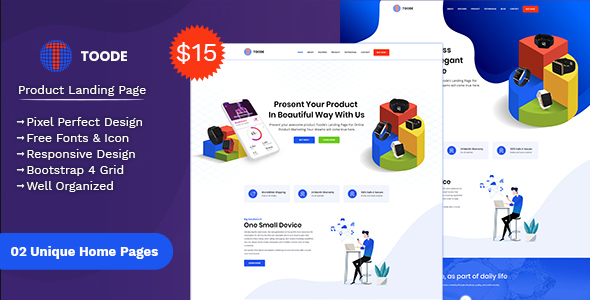 Toode - Product Landing Page - Marketing Corporate