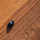 Driving car on dirt road, aerial view - PhotoDune Item for Sale
