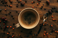Top view of coffee cup and spoon - PhotoDune Item for Sale