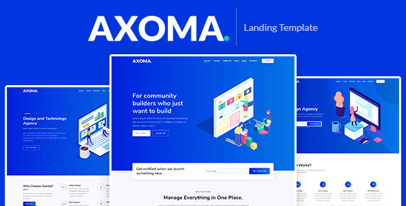 Axoma – Responsive Bootstrap 4 Landing Template - Technology Site Templates