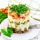 Free Download Salad with beef and tomato on light board Nulled