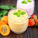 Milkshake apricot and strawberry on board - PhotoDune Item for Sale