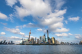 shanghai skyline against a sunny sky in summer, view from huangpu riverside - PhotoDune Item for Sale