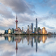 shanghai skyline at dusk and beautiful reflections - PhotoDune Item for Sale