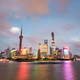 charming shanghai skyline and huangpu river under the nightfall - PhotoDune Item for Sale