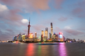 charming shanghai skyline and huangpu river under the nightfall - PhotoDune Item for Sale