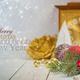 Christmas decoration on white rustic background, horizontal - PhotoDune Item for Sale