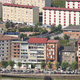 Cangas del Narcea city town buildings facades. Asturias, Spain. Horizontal - PhotoDune Item for Sale