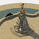 Free Download Queen Victoria Memorial Lowpoly 3D model Nulled