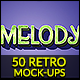 50 Retro Mock-Up Styles - Bundle vol 01 - GraphicRiver Item for Sale