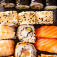 Top view close up sushi rolls - PhotoDune Item for Sale
