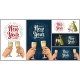 Female and Male Hands Holding and Clinking Drinks - GraphicRiver Item for Sale