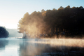 Pang oung reservoir with fog and sunrise - PhotoDune Item for Sale
