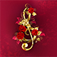 Musical Key with Roses - GraphicRiver Item for Sale