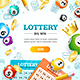Lottery Concept Banner Card - GraphicRiver Item for Sale