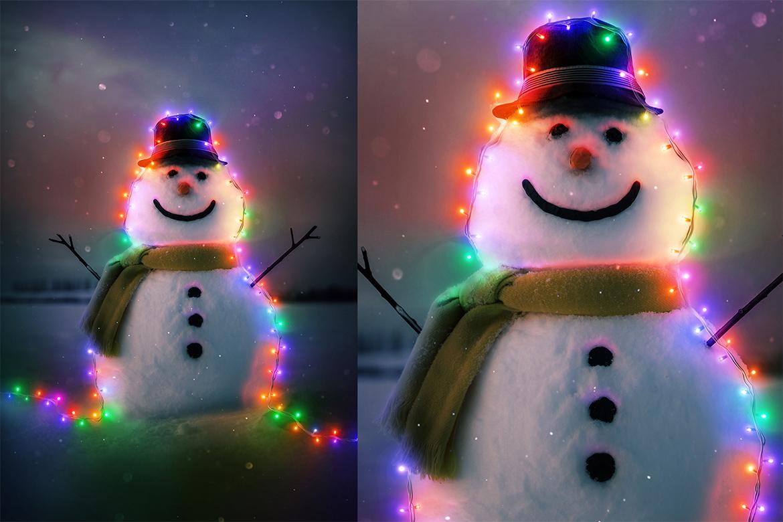 Christmas Lights Photoshop Action