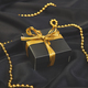 Luxury black gift boxes with gold ribbon - PhotoDune Item for Sale