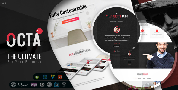 Download OCTA – Multipurpose WordPress Theme nulled 01 preview