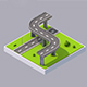 Free Download Low Poly Isometric Street & Bridge Nulled