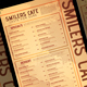 Cafe Menu Card - GraphicRiver Item for Sale