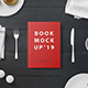 Hard Cover Book Mockup - Breakfast Set - GraphicRiver Item for Sale