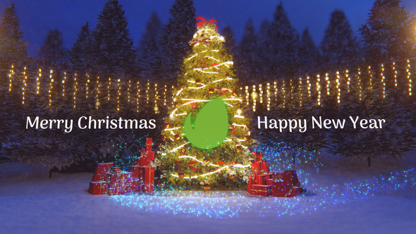 Christmas Greeting Card with unique Holiday Magic atmosphere After Effects Video