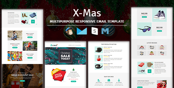 X-mas - Responsive Email Template With Stampready Builder Access - Newsletters Email Templates
