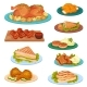 Collection of Tasty Poultry Dishes, Fried Chicken - GraphicRiver Item for Sale