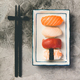 Flat-lay of sushi on a grey stone background, close up - PhotoDune Item for Sale