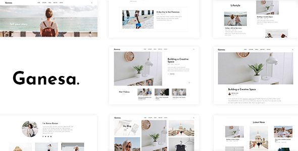 Ganesa - Minimal WordPress Personal Blog Theme - Personal Blog / Magazine