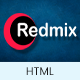 Free Download Redmix: Multi-Purpose One Page Parallax HTML Template Nulled