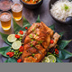 Deep fried whole fish with spicy sauce and coconut rice, thai cuisine - PhotoDune Item for Sale