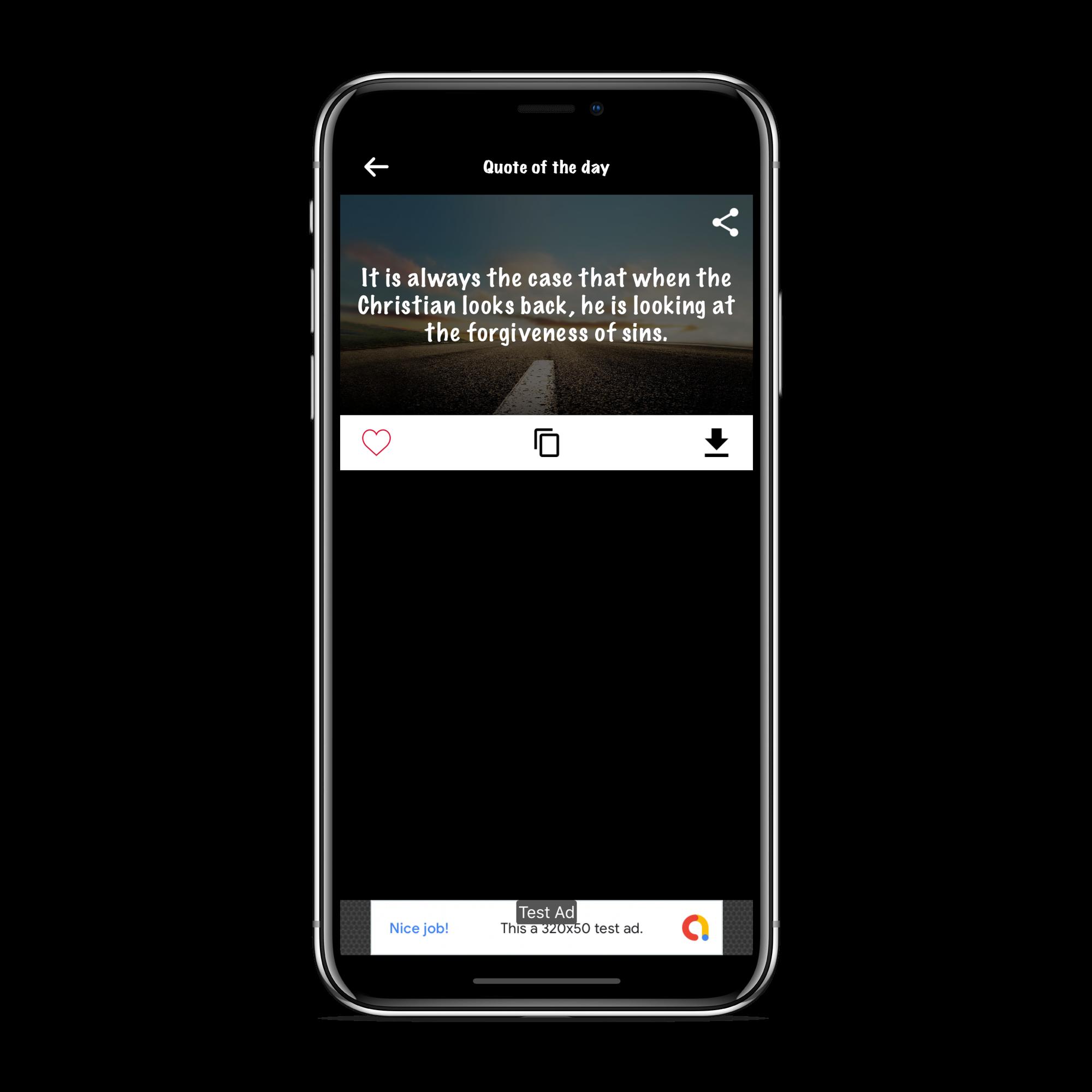 Unique Quotes & Status - iOS App with Admin Panel
