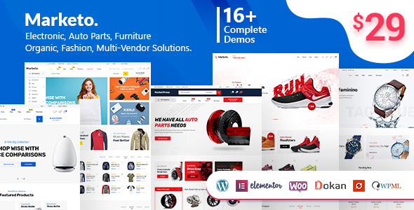 Marketo - eCommerce & Multivendor Marketplace Woocommerce WordPress Theme - WooCommerce eCommerce