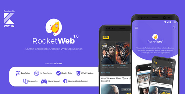 RocketWeb - Android web app solution | WebToApp | WebView