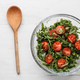 salad with arugula and tomatoes in the glass plate - PhotoDune Item for Sale