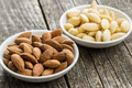 Peeled and unpeeled almonds. - PhotoDune Item for Sale