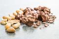 Peanuts covered chocolate. - PhotoDune Item for Sale