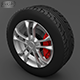 Wheel - wheel with tire - 3DOcean Item for Sale