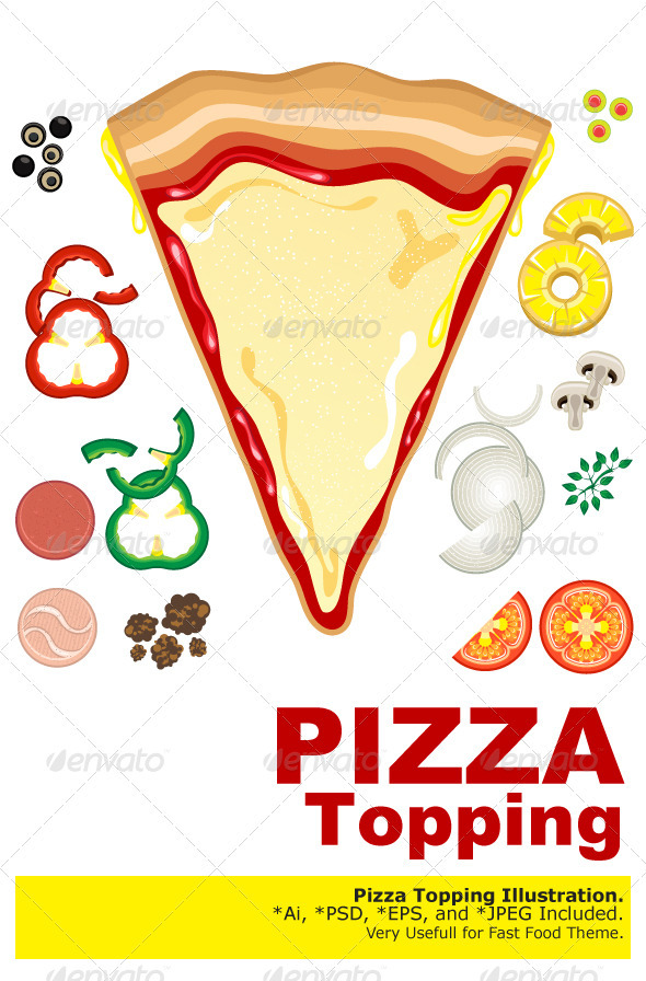 Pizza Toppings - Food Objects