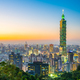 Free Download Beautiful landscape and cityscape of taipei 101 building and arc Nulled