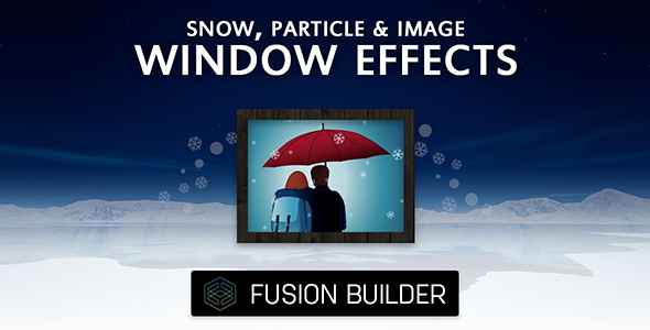 Fusion Builder Snow, Particle & Image Window Effects for Avada v5 - CodeCanyon Item for Sale