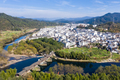 aerial view of rainbow bridge and ancient town - PhotoDune Item for Sale