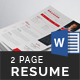 Resume (2 Page) - GraphicRiver Item for Sale