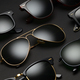 Different sunglasses on black background - PhotoDune Item for Sale