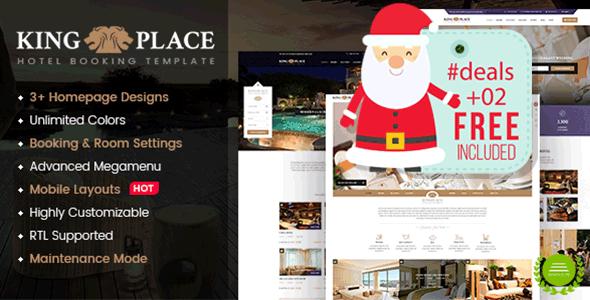 KingPlace - Hotel Booking, Spa & Resort WordPress Theme - Travel Retail